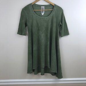Free People Green T-shirt Tunic